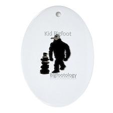 Kid Bigfoot Ornament (Oval)