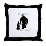 Kid Bigfoot Throw Pillow