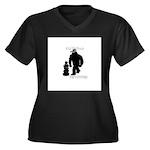 Kid Bigfoot Women's Plus Size V-Neck Dark T-Shirt
