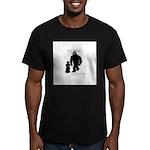 Kid Bigfoot Men's Fitted T-Shirt (dark)