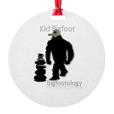 Kid Bigfoot Round Ornament