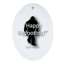 Happy Bigfooting Ornament (Oval)