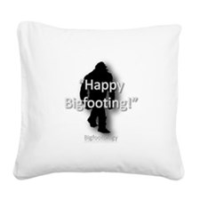Happy Bigfooting Square Canvas Pillow