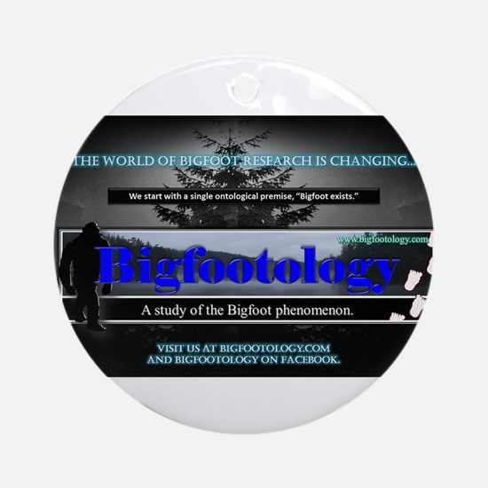 Bigfootology Research Banner Ornament (Round)