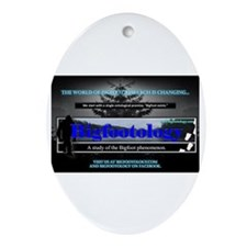 Bigfootology Research Banner Ornament (Oval)
