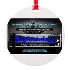 Bigfootology Research Banner Round Ornament