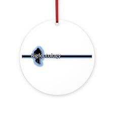 Bigfootology Line w/Blue Highlight Ornament (Round