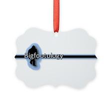 Bigfootology Line w/Blue Highlight Picture Ornamen