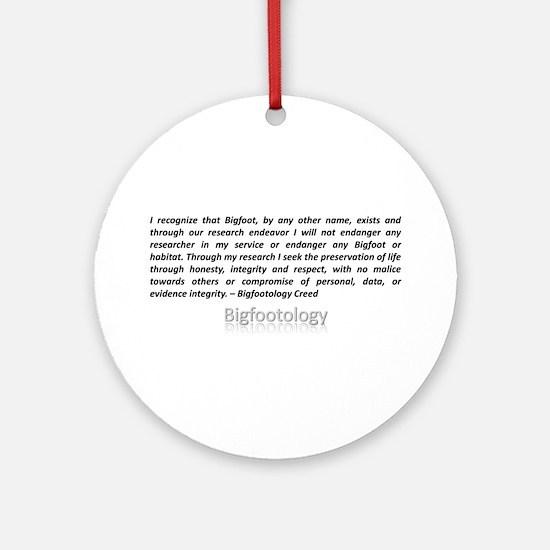 Bigfootology Creed Ornament (Round)
