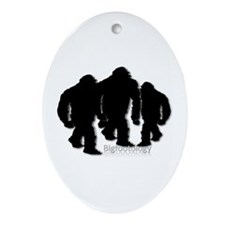 Bigfoot Family Group Ornament (Oval)