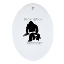 Baby Bigfoot Ornament (Oval)