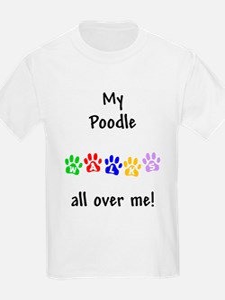 Poodle Walks Kids T-Shirt