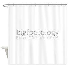 Bigfootology Reflection Logo Shower Curtain
