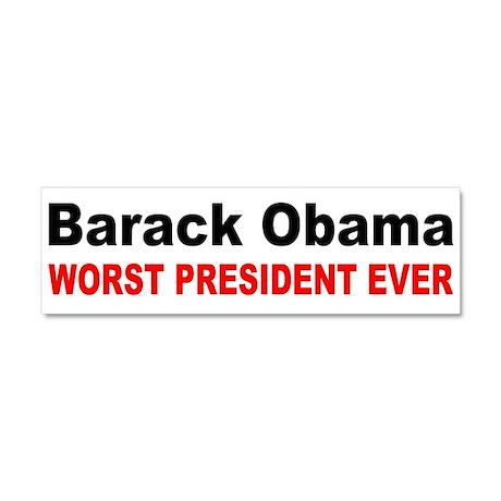 anti obama worst presdarkbumpl.png Car Magnet 10 x