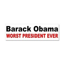 anti obama worst presdarkbumpl.png Car Magnet 10 x