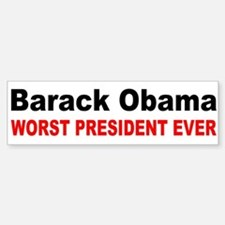 anti obama worst presdarkbumpl.png Bumper Bumper Sticker
