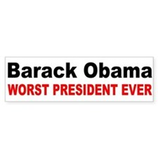 anti obama worst presdarkbumpl.png Bumper Sticker