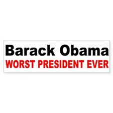 anti obama worst presdarkbumpl.png Bumper Stickers