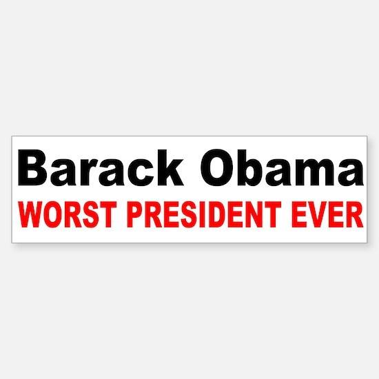 anti obama worst presdarkbumpl.png Bumper Stickers