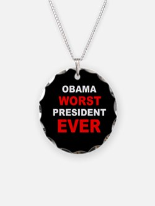 anti obama worst presdarkbumplLDK.png Necklace