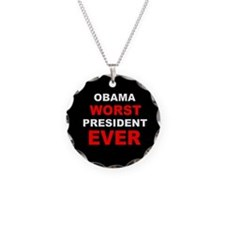 anti obama worst presdarkbumplLDK.png Necklace Cir