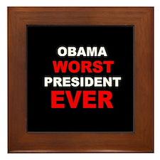 anti obama worst presdarkbumplLDK.png Framed Tile