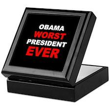 anti obama worst presdarkbumplLDK.png Keepsake Box