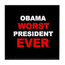 anti obama worst presdarkbumplLDK.png Tile Coaster