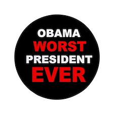 """anti obama worst presdarkbumplLDK.png 3.5"""" Button"""