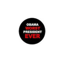anti obama worst presdarkbumplLDK.png Mini Button