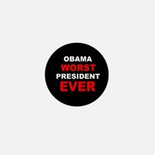 anti obama worst presdarkbumplLDK.png Mini Button