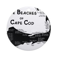 EVERY BEACH ON THE CAPE Ornament (Round)