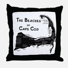 EVERY BEACH ON THE CAPE Throw Pillow