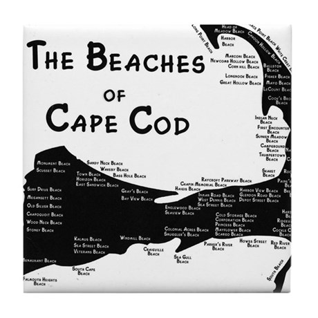 EVERY BEACH ON THE CAPE Tile Coaster