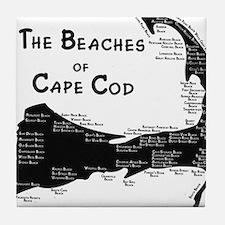 EVERY BEACH ON THE CAPE Tile Coaster