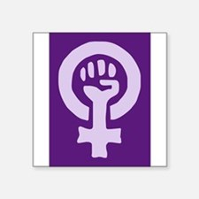 Feminist Woman Power Rectangle Sticker