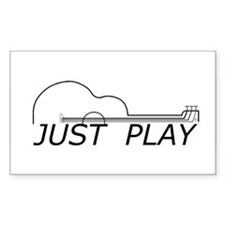 Just Play Guitar Decal