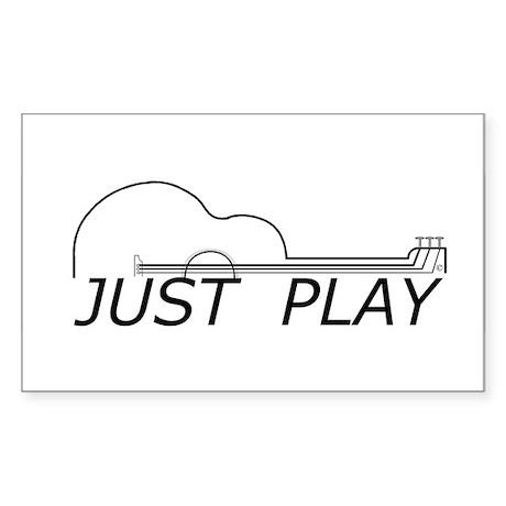 Just Play Guitar Sticker