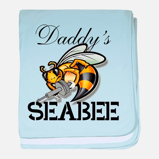 Daddys Seabee baby blanket