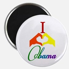 "I Love Obama Rainbow 2.25"" Magnet (100 pack)"