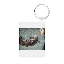 Silly Sadie Aluminum Photo Keychain