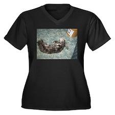 Silly Sadie Women's Plus Size V-Neck Dark T-Shirt
