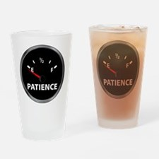 Out of Patience Fuel Gauge Drinking Glass