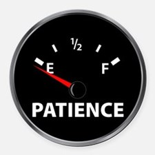 Out of Patience Fuel Gauge Round Car Magnet