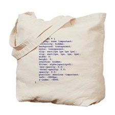 CSS Redundant Class Tote Bag