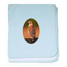 Red-shouldered Hawk baby blanket