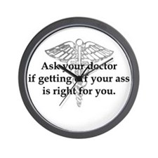 Ask Your Doctor - With Symbol Wall Clock