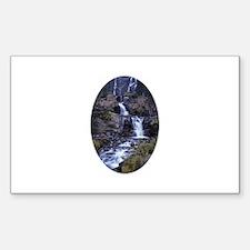 Alaska Waterfall Sticker (Rectangle)