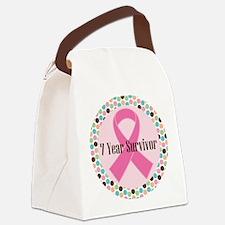 7 Year Breast Cancer Survivor Canvas Lunch Bag