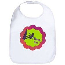 Rock Girl rock climber design Bib